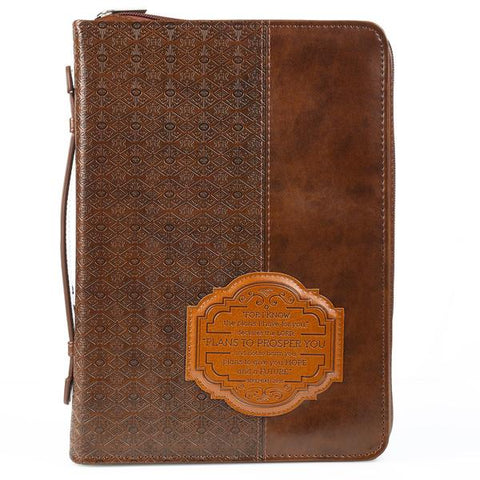 Brown I Know The Plans Bible Cover
