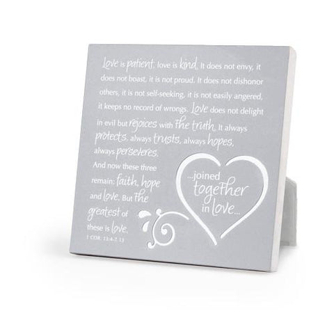 Joined Together In Love Metal Plaque