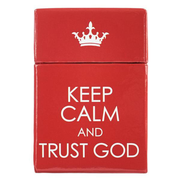Keep Calm Trust God Box of Blessings
