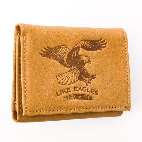 Like Eagles - Isaiah 40:31 Leather Wallet