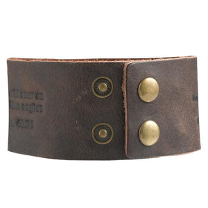 On Eagles - Isaiah 40:31 Leather Wriststrap