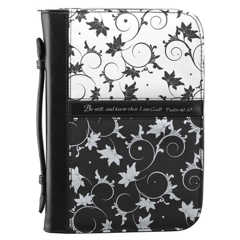Black/White Psalm 46:10 Bible Cover