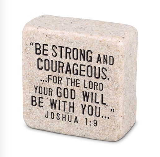 Strength Plaque Scripture Stone