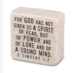 Fearless Plaque Scripture Stone