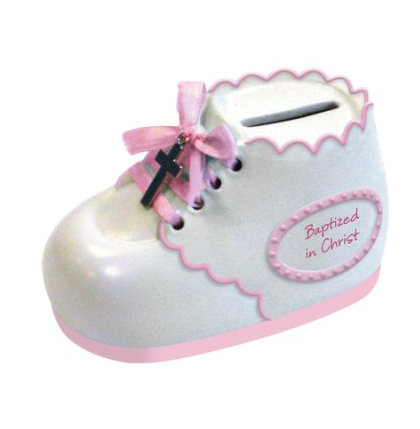 Baptized In Christ Bootie Bank Pink