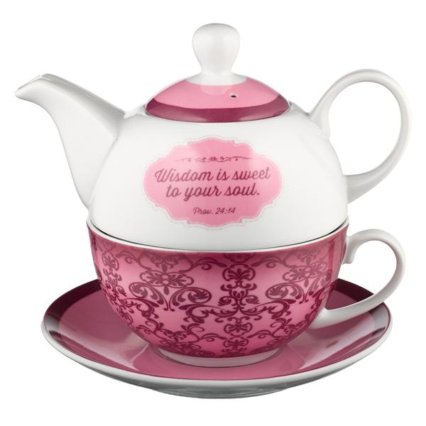 Wisdom for the Soul Proverbs 24:14 Teapot Set