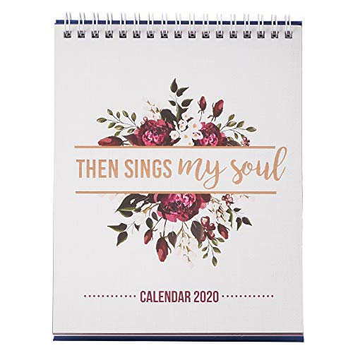 Then Sings My Soul, with Scripture References, Desktop Calendar 2020