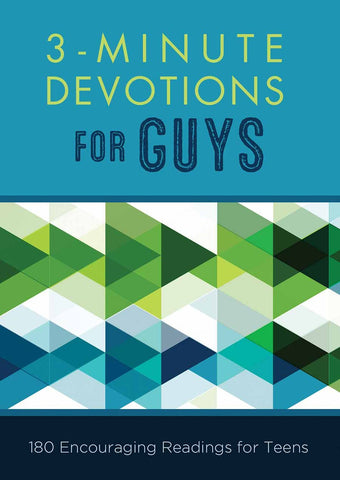 3-Minute Devotions for Guys: 180 Encouraging Readings for Teens [Paperback] Hascall, Glenn