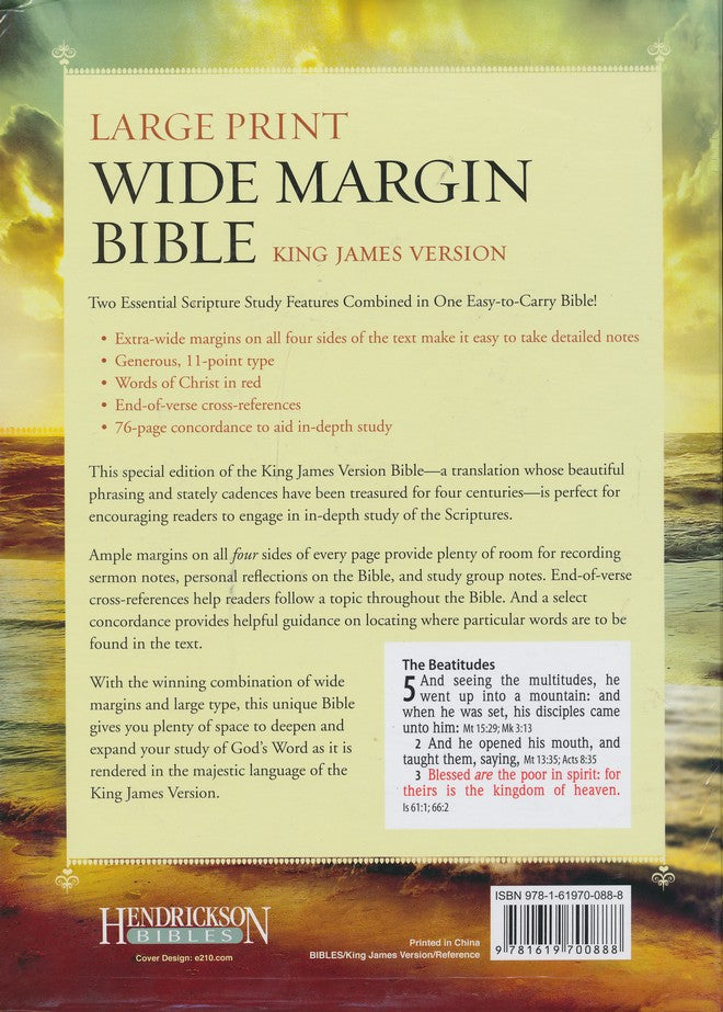 Personalized KJV Lrg.Prt Wide Margin Flexisoft