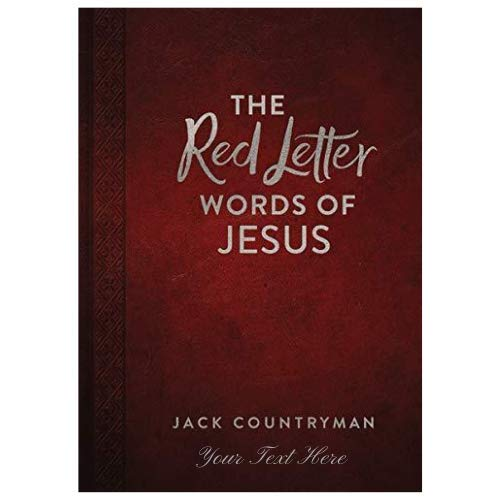 Personalized The Red Letter Words of Jesus