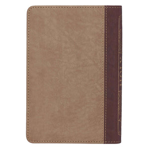 Personalized KJV Holy Bible Small Compact Bible Two-Tone Brown