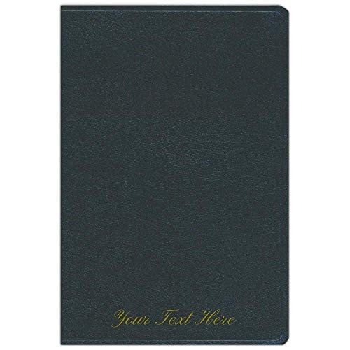 Personalized KJV Super Giant Print Reference Bible Black Bonded Leather