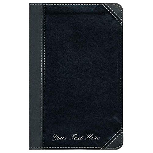 Personalized NIV Thinline Bible Compact Leathersoft Black and Gray Comfort Print