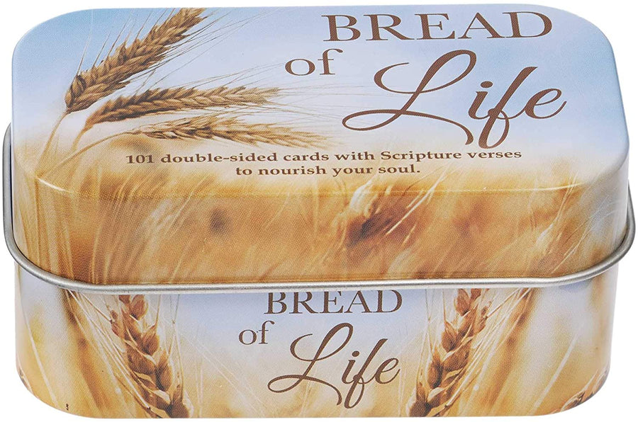 Christian Art Gifts Bible Verse Promise Cards | Bread of Life – 202 Scriptures to Nourish Your Soul | Daily Encouraging Pocket Size Scripture Cards for Men and Women in Decorative Tin (5.99)