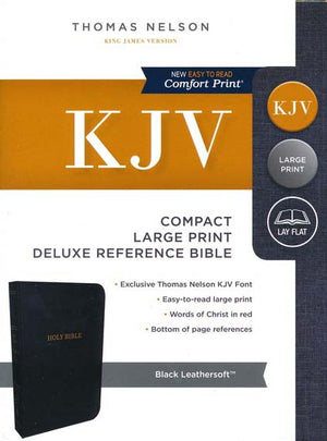 Personalized KJV COMPACT Lrg Print Deluxe Reference Bible