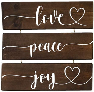 Love Joy Peace Wood Decor