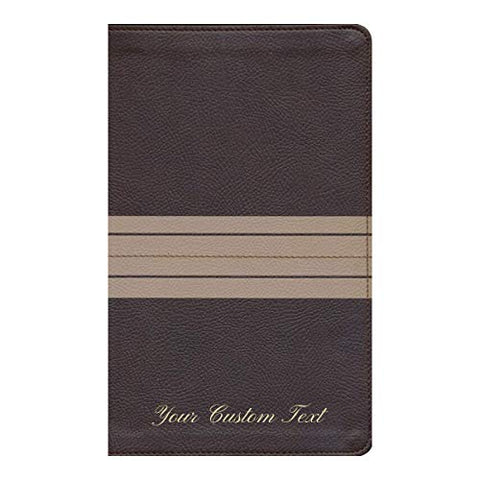 Personalized NIV Comfort Print Thinline Bible Leathersoft Chocolate/Tan New International Version