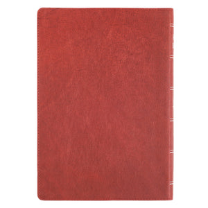 Personalized KJV Super Giant Print Holy Bible Full Grain Premium Leather Thumb Index Burgundy