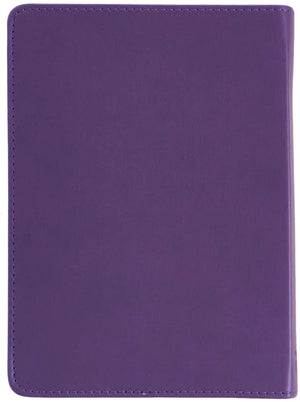 Personalized It Is Well With My Soul Handy-Sized LuxLeather Journal Purple