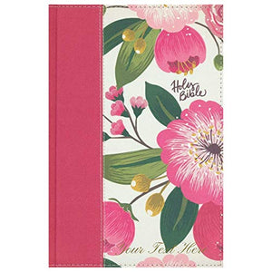 Personalized NKJV Woman's Study Bible Red Letter Cloth Over Board Pink Floral