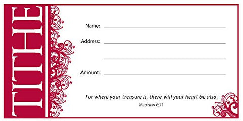 1 X Offering Env-Tithe (Matt 6:21) (Package of 100)