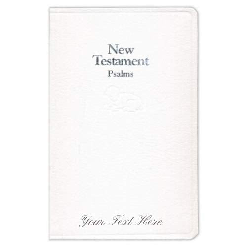 Personalized KJV Baby's New Testament White Imitation Leather