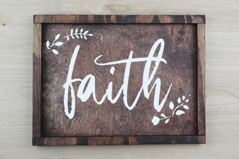 Faith Wood Decor