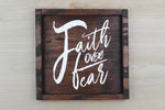 Faith Over Fear Frame Wall Decor