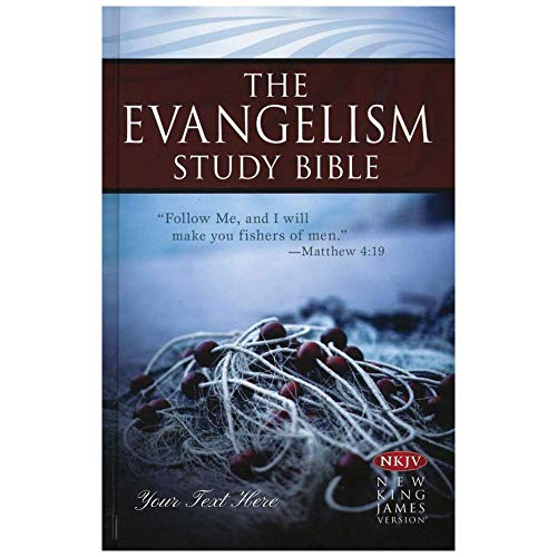 Personalized NKJV Evangelism Study Bible Hardcover