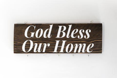 God Bless Our Home Wood Decor