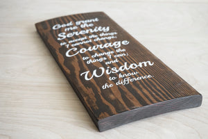 Serenity Prayer Wood Decor