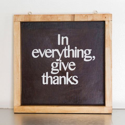 In Everything, Give Thanks Wall Decor