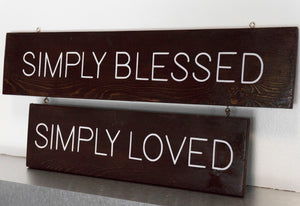 Simply Blessed, Simply Loved Wall Decor