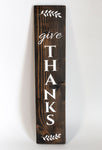 Give Thanks Plank Wall Decor