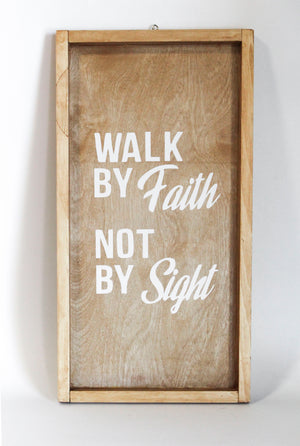 Walk By Faith Wooden Wall Frame