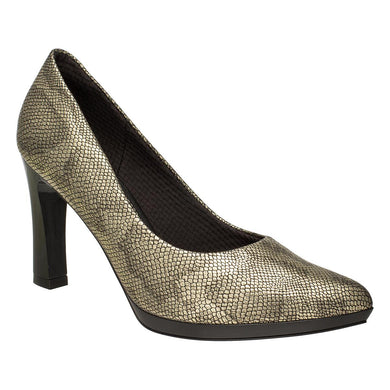 Piccadilly Ref 722035 Women Soft Relieves The Impact Shoe Gold Cobra