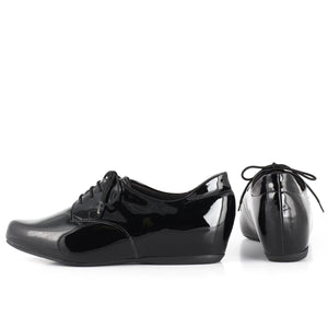 Piccadilly Ref 252012 Women Moccasin Oxford Black Painted