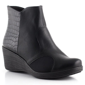 Piccadilly Ref: 180168 Women Fashion Maxitherapy Innovative Ankle Boot Med Heel