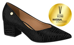 Vizzano 1220.224 Women Fashion Comfortable Business in Croco Black