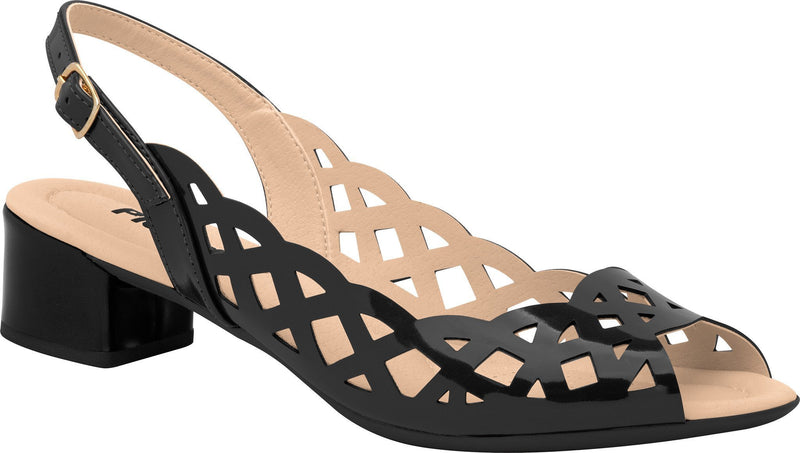 Piccadilly 166002-940 Women Sandal Low Heel Painted Black