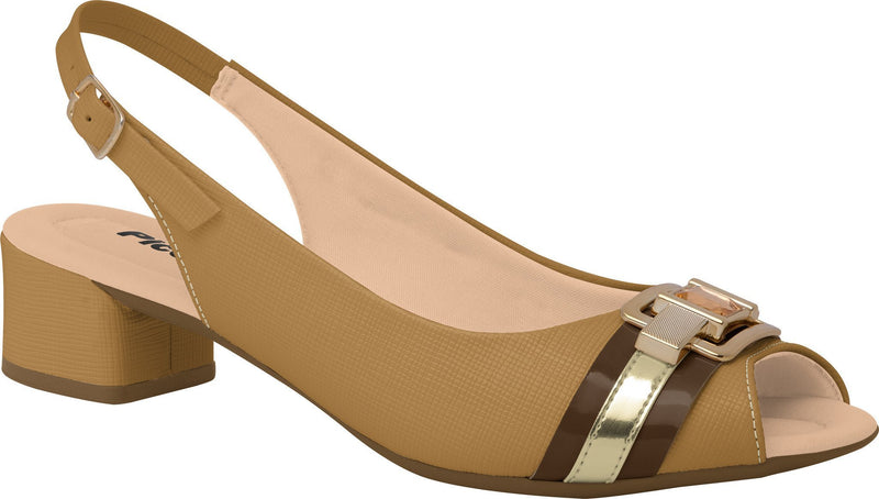 Piccadilly 166003-941 Women Sandal Low Heel Nude