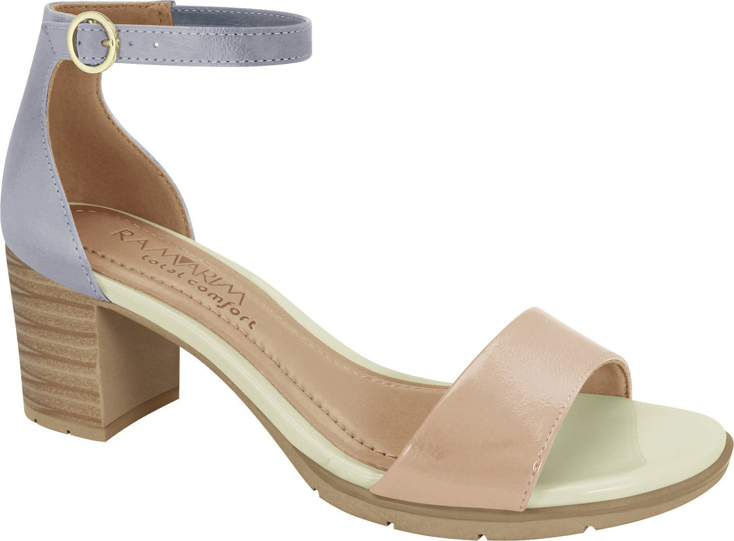 Ramarim 1842205 Women Fashion Comfortable Sandal Mid Heel in Nude Lilac
