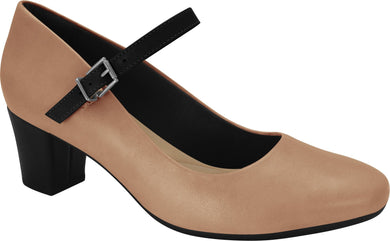 Ramarim 1884253 Women Fashion Comfortable Business Shoe Mid Heel in Nude