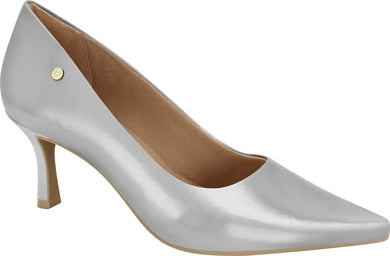 Ramarim 1885202 Women Fashion Comfortable Business Shoe Mid Heel in Metallic Silver