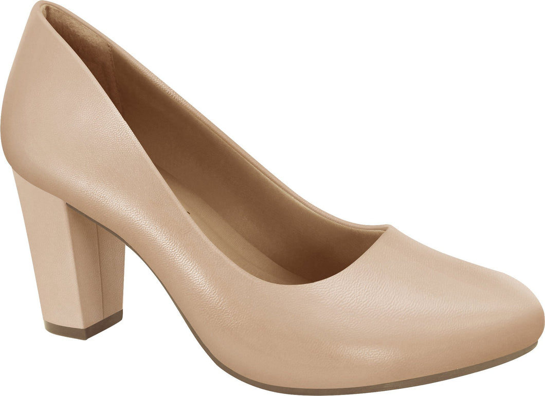 Ramarim 1894252 Women Fashion Comfortable Business Shoe Mid Heel in Nude