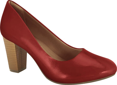 Ramarim 1894252 Women Fashion Comfortable Business Shoe Mid Heel in Painted Red