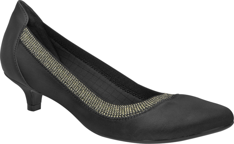 Piccadilly 258013-764 Women Kitten Heel Shoe Metallic Black