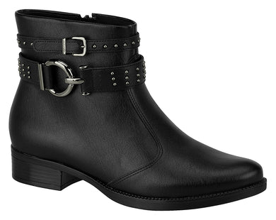 Vizzano 3050.119 Women Fashion Comfortable Ankle Boot Low Heel in Black