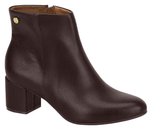 Women Fashion Comfortable Ankle Boot Mid Heel in Coffee Modare 3067.100