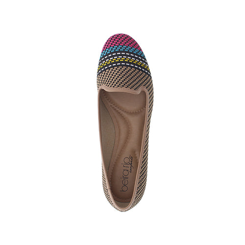 Beira Rio 4135.261 Women Fashion Flat Loafer in Multi Beige
